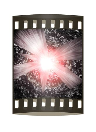 magma: abstract background ball of magma. The film strip