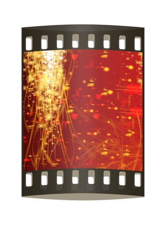 lyrical: Winter or Christmas style background with a wave of stars to the right place for your image or text. The film strip Stock Photo