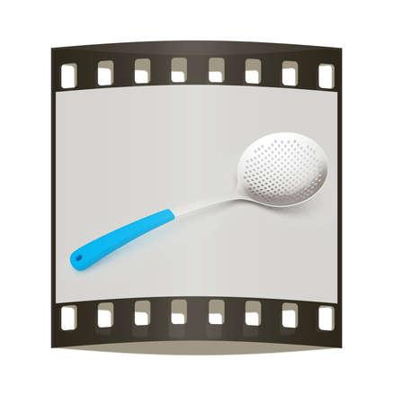 skimmer: skimmer on light gray background. The film strip Stock Photo