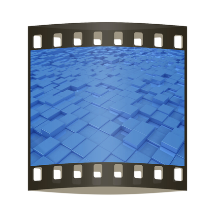 abstract urban background. The film strip photo