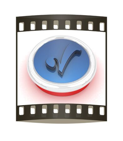 choise: Accept button on a white background. The film strip Stock Photo
