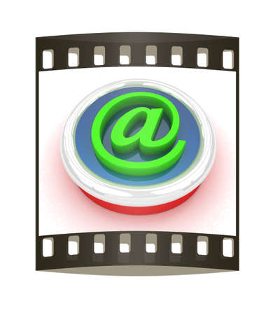 ed: 3d button email Internet push on a white background. The film strip Stock Photo