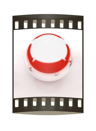 chrome ball: Chrome Ball on a white background. The film strip Stock Photo
