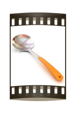 skimmer: Skimmer on a white background. The film strip