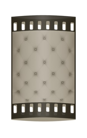 softly: Sepia picture of genuine softly gray fabric upholstery. The film strip Stock Photo
