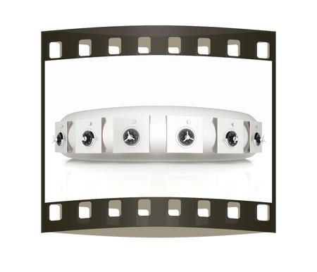 checkroom: Several safes. The film strip Stock Photo