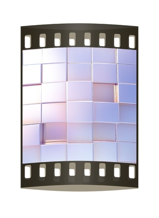 metall: Abstract metall urban background. The film strip
