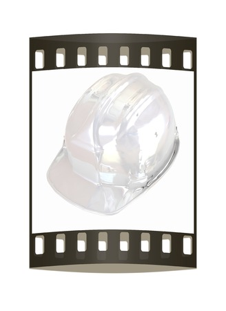 mine site: hard hat. The film strip Stock Photo