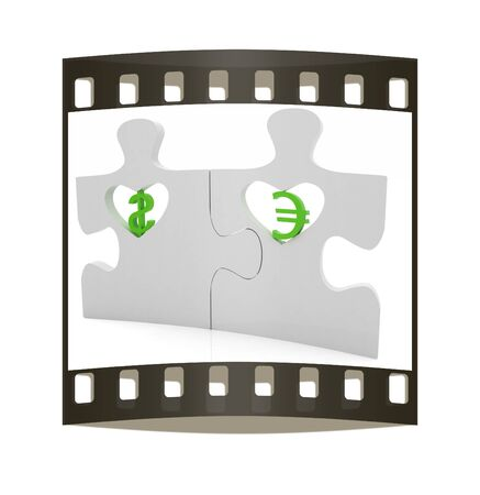 bank activities: currency pair on a white background. The film strip