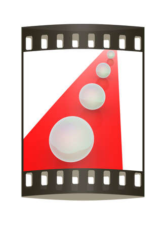 one lane sign: the concept of motion. The film strip