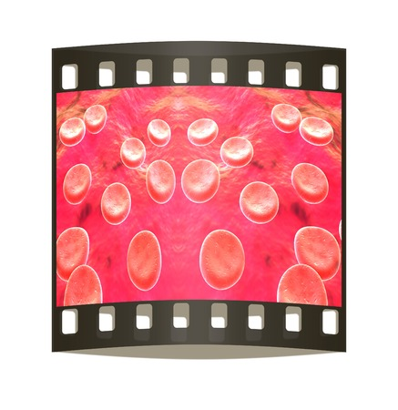 blood cells: Blood cells. The film strip Stock Photo