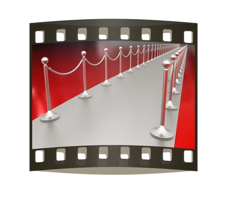 3d illustration of path to the success on a white background. The film strip