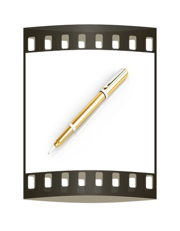 clericalist: Gold corporate pen design. The film strip