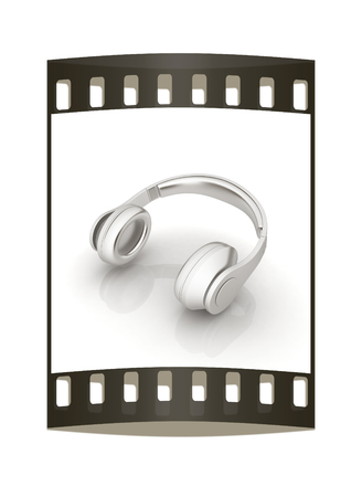 grooved: Headphones Icon. The film strip