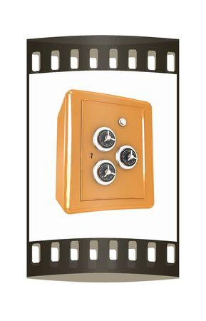 vaulted door: safe. The film strip