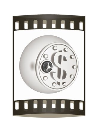 vaulted door: safe in the form of dollar coin. The film strip