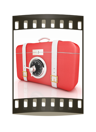 assure: suitcase-safe. The film strip Stock Photo