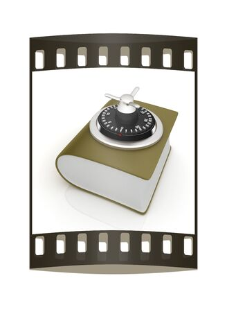 data dictionary: Information security concept. The film strip Stock Photo