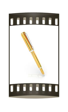 clerical: Gold corporate pen design. The film strip