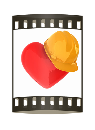 hard hat: hard hat on heart. The film strip
