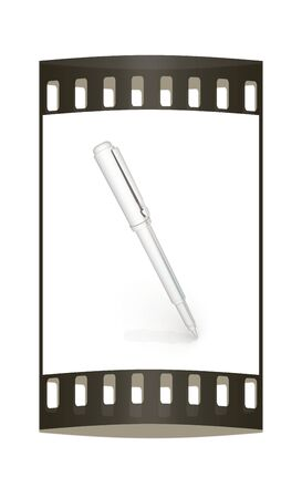 clerical: Metall corporate pen design. The film strip