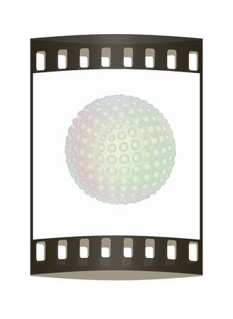 pimples: Abstract glossy sphere with pimples. The film strip Stock Photo