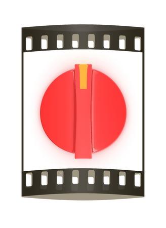 knob: 3d white knob on white background. The film strip