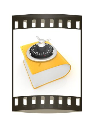 protected database: Information security concept. The film strip Stock Photo