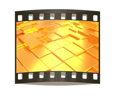 metall: Abstract metall gold background. The film strip