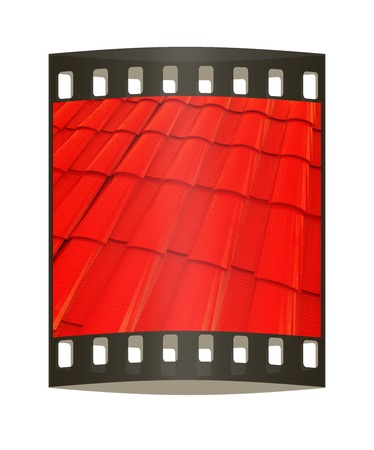 coate: 3d red roof tiles. The film strip