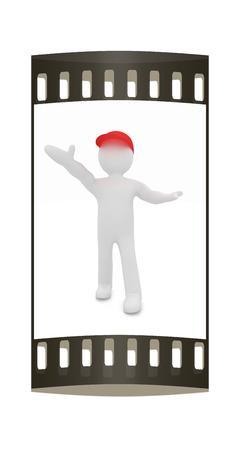 platon: 3d philosopher, orator on a white background. The film strip