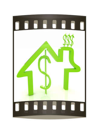 consuming: Household Expenditure icon. The film strip Stock Photo