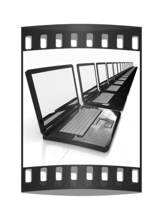 powerbook: network concept on a white background. The film strip