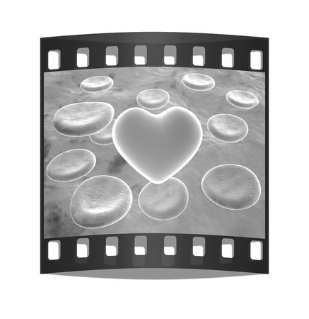 microcosmic: Heart in red blood cells. The film strip