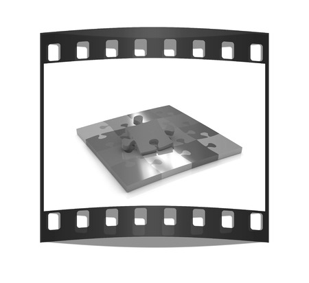 peculiar: Many-colored puzzle pattern (removable pieces). The film strip
