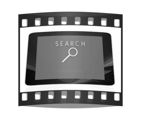 gprs: phone search on a white background. The film strip Stock Photo