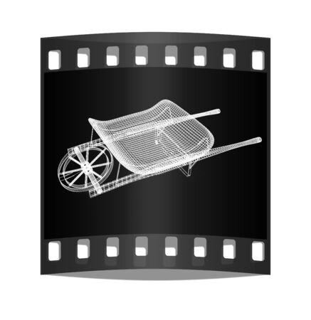 hauling: wheelbarrow on a white background. The film strip