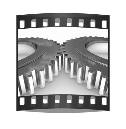 pinkie: Gear set on a white background. The film strip