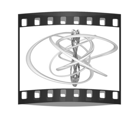 Abstract shapes on a white background. The film strip photo
