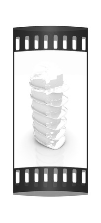 hard hats: Hard hats on a white background. The film strip