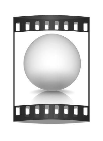 chrome base: Metallic sphere on a white background. The film strip