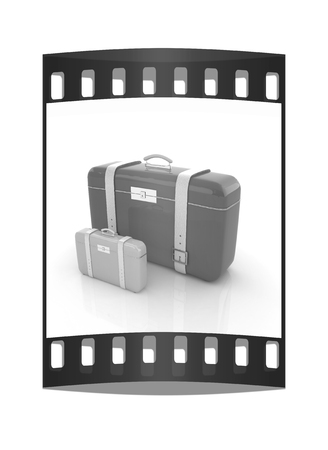 Travelers suitcases. The film strip