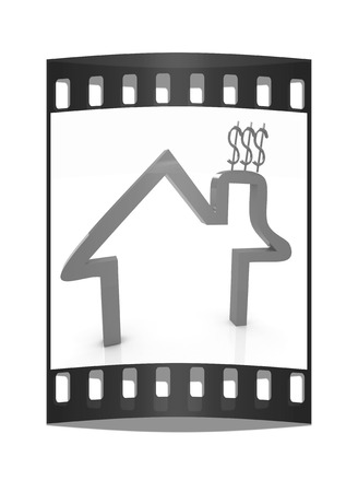 estate planning: Household Expenditure icon. The film strip Stock Photo