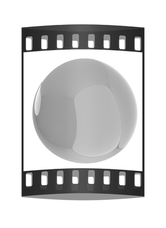 blue sphere: Glossy blue sphere. The film strip Stock Photo