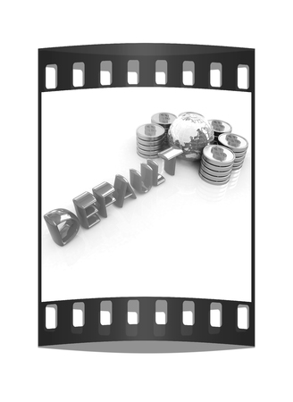 housing crisis: Default concept on a white background. The film strip Stock Photo
