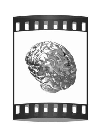 metall: Gold human brain. The film strip
