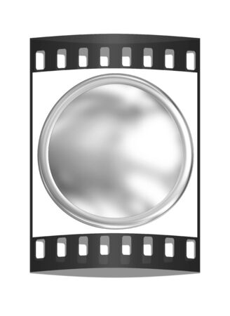 globular: Metall button. The film strip