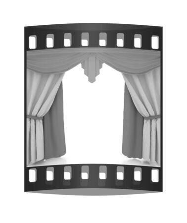 performing arts event: Colorfull curtains. The film strip