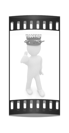 luxuriance: 3d people - man, person with a golden crown. King. The film strip
