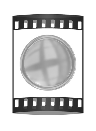 conduct: Golden Web button isolated on white background. The film strip